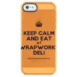 [Crown] keep calm and eat at wrapworks deli  Uncommon Cases (iPhone 5/5s/6) Uncommon Clearly™ Deflector iPhone 5 Case