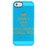 [Two hearts] don't cry coz niall horan loves you  Uncommon Cases (iPhone 5/5s/6) Uncommon Clearly™ Deflector iPhone 5 Case