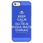 [Skull crossed bones] keep calm and du-te-n pizda matii chiriac  Uncommon Cases (iPhone 5/5s/6) Uncommon Clearly™ Deflector iPhone 5 Case