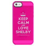 [Knitting crown] keep calm and love shelby  Uncommon Cases (iPhone 5/5s/6) Uncommon Clearly™ Deflector iPhone 5 Case