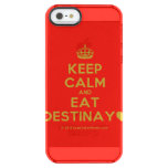 [Crown] keep calm and eat destinay♥  Uncommon Cases (iPhone 5/5s/6) Uncommon Clearly™ Deflector iPhone 5 Case