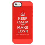 [Crown] keep calm and make lovr  Uncommon Cases (iPhone 5/5s/6) Uncommon Clearly™ Deflector iPhone 5 Case