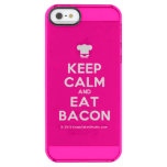 [Chef hat] keep calm and eat bacon  Uncommon Cases (iPhone 5/5s/6) Uncommon Clearly™ Deflector iPhone 5 Case