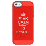 [Crown] f*#k calm today is result  Uncommon Cases (iPhone 5/5s/6) Uncommon Clearly™ Deflector iPhone 5 Case