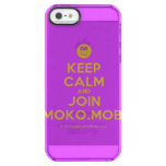 [Smile] keep calm and join moko.mobi  Uncommon Cases (iPhone 5/5s/6) Uncommon Clearly™ Deflector iPhone 5 Case