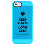 [Love heart] keep calm and love cma  Uncommon Cases (iPhone 5/5s/6) Uncommon Clearly™ Deflector iPhone 5 Case