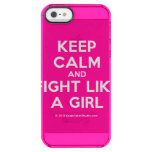 keep calm and fight like a girl  Uncommon Cases (iPhone 5/5s/6) Uncommon Clearly™ Deflector iPhone 5 Case
