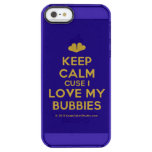 [Two hearts] keep calm cuse i love my bubbies  Uncommon Cases (iPhone 5/5s/6) Uncommon Clearly™ Deflector iPhone 5 Case