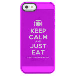 [Cutlery and plate] keep calm and just eat  Uncommon Cases (iPhone 5/5s/6) Uncommon Clearly™ Deflector iPhone 5 Case