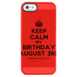 [Crown] keep calm my birthday august 3rd  Uncommon Cases (iPhone 5/5s/6) Uncommon Clearly™ Deflector iPhone 5 Case