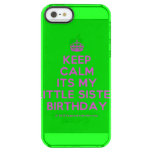 [Crown] keep calm its my little sister birthday  Uncommon Cases (iPhone 5/5s/6) Uncommon Clearly™ Deflector iPhone 5 Case