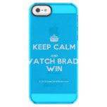[Crown] keep calm and watch brady win  Uncommon Cases (iPhone 5/5s/6) Uncommon Clearly™ Deflector iPhone 5 Case