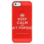 [Crown] keep calm and eat popsick  Uncommon Cases (iPhone 5/5s/6) Uncommon Clearly™ Deflector iPhone 5 Case