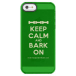 [Dogs bone] [Dogs bone] [Dogs bone] keep calm and bark on  Uncommon Cases (iPhone 5/5s/6) Uncommon Clearly™ Deflector iPhone 5 Case