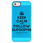 [Crown] keep calm and follow supsophie  Uncommon Cases (iPhone 5/5s/6) Uncommon Clearly™ Deflector iPhone 5 Case
