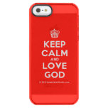 [Cupcake] keep calm and love god  Uncommon Cases (iPhone 5/5s/6) Uncommon Clearly™ Deflector iPhone 5 Case