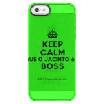 [Crown] keep calm que o jacinto é o boss  Uncommon Cases (iPhone 5/5s/6) Uncommon Clearly™ Deflector iPhone 5 Case
