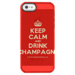 [Crown] keep calm and drink champagne  Uncommon Cases (iPhone 5/5s/6) Uncommon Clearly™ Deflector iPhone 5 Case