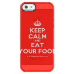 [Crown] keep calm and eat your food  Uncommon Cases (iPhone 5/5s/6) Uncommon Clearly™ Deflector iPhone 5 Case