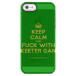 [Crown] keep calm and fuck with skeeter gang  Uncommon Cases (iPhone 5/5s/6) Uncommon Clearly™ Deflector iPhone 5 Case