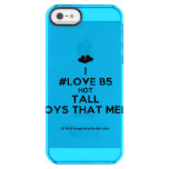 [Two hearts] i #love b5 hot tall boys that melt  Uncommon Cases (iPhone 5/5s/6) Uncommon Clearly™ Deflector iPhone 5 Case