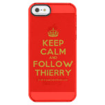 [Crown] keep calm and follow thierry  Uncommon Cases (iPhone 5/5s/6) Uncommon Clearly™ Deflector iPhone 5 Case