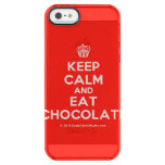 [Cupcake] keep calm and eat chocolate  Uncommon Cases (iPhone 5/5s/6) Uncommon Clearly™ Deflector iPhone 5 Case