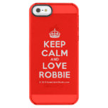 [Crown] keep calm and love robbie  Uncommon Cases (iPhone 5/5s/6) Uncommon Clearly™ Deflector iPhone 5 Case