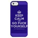 [Crown] keep calm and go fuck yourself  Uncommon Cases (iPhone 5/5s/6) Uncommon Clearly™ Deflector iPhone 5 Case