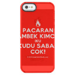 [Campfire] pacaran ambek kimcil iku kudu sabar cok!  Uncommon Cases (iPhone 5/5s/6) Uncommon Clearly™ Deflector iPhone 5 Case