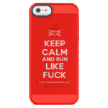 [UK Flag] keep calm and run like fuck  Uncommon Cases (iPhone 5/5s/6) Uncommon Clearly™ Deflector iPhone 5 Case
