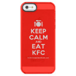 [Cutlery and plate] keep calm and eat kfc  Uncommon Cases (iPhone 5/5s/6) Uncommon Clearly™ Deflector iPhone 5 Case