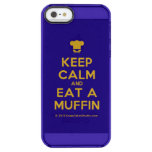 [Chef hat] keep calm and eat a muffin  Uncommon Cases (iPhone 5/5s/6) Uncommon Clearly™ Deflector iPhone 5 Case