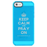 [Crown] keep calm and pray on  Uncommon Cases (iPhone 5/5s/6) Uncommon Clearly™ Deflector iPhone 5 Case
