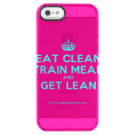 [Crown] eat clean train mean and get lean  Uncommon Cases (iPhone 5/5s/6) Uncommon Clearly™ Deflector iPhone 5 Case
