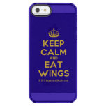 [Crown] keep calm and eat wings  Uncommon Cases (iPhone 5/5s/6) Uncommon Clearly™ Deflector iPhone 5 Case