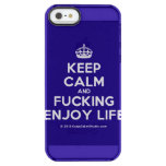 [Crown] keep calm and fucking enjoy life  Uncommon Cases (iPhone 5/5s/6) Uncommon Clearly™ Deflector iPhone 5 Case