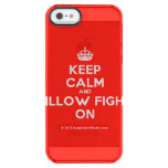 [Crown] keep calm and pillow fight on  Uncommon Cases (iPhone 5/5s/6) Uncommon Clearly™ Deflector iPhone 5 Case