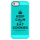[Crown] keep calm and eat cookies  Uncommon Cases (iPhone 5/5s/6) Uncommon Clearly™ Deflector iPhone 5 Case