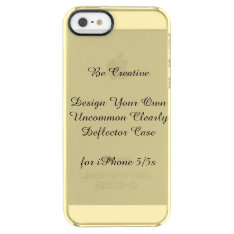 Uncommon Iphone 5/5s Clearly™ Deflector Case at Zazzle