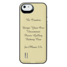 Uncommon Iphone 5/5s Power Gallery Battery Case at Zazzle