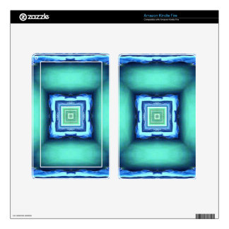 Uncommon Modern Blue Seagreen Geometric Pattern Skin For Kindle Fire