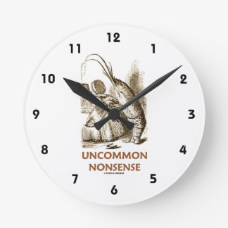 Uncommon Nonsense (Lobster Quadrille Wonderland) Round Clock