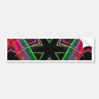 Uncommon Red Green Linear Christmas Abstract Bumper Sticker