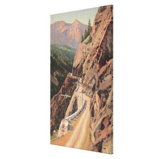 Uncompahgre Gorge and Million Dollard Highway Canvas Print