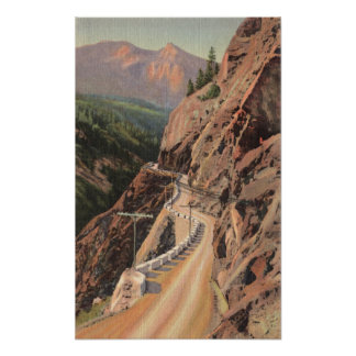 Uncompahgre Gorge and Million Dollard Highway Poster