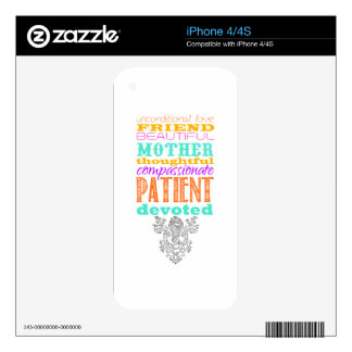 Unconditional love decals for the iPhone 4S