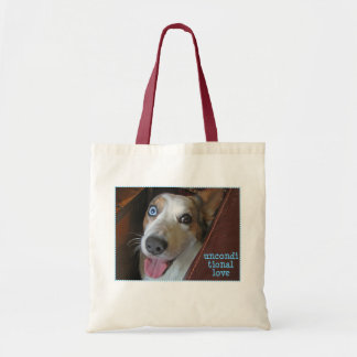 unconditional love dog tote