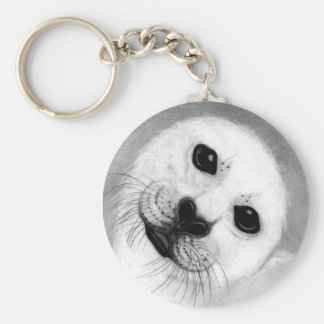 Unconditional Love Harp Seal Keychain