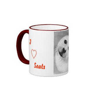 Unconditional Love Harp Seal Ringer Mug